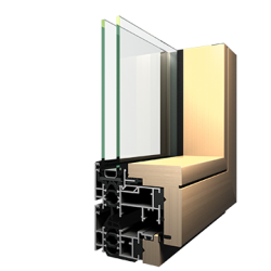 "The ALD 2100 is a system designed so that the windows in the opening and fixed fields are in the same plane, allowing for uniform reflection of the glass surfaces and a ""clean"" appearance of the facade."