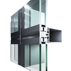 The ALFA 50 is a system of classic aluminum suspended facades. The apparent width of the aluminum profiles, verticals and horizontals on the outside and inside is 50mm.