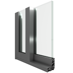 PKS system (lift sliding system). The system is thermally insulated with 20mm wide polyamide strips.